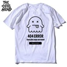 COOLMIND top qualité 100% coton hommes t-shirt été en vrac tricoté 404 problème hommes t-shirt col rond t-shirt t-shirt IN0302