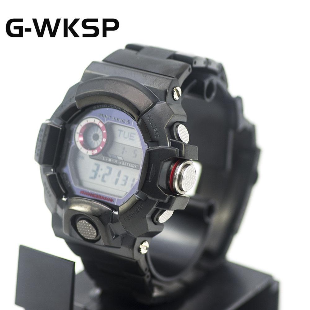 G-WKSP conjunto negro mw9400 correa de reloj modificación 100% caja/bisel de Metal de acero inoxidable