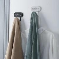 wall adhesive hook sticky iron hook hanger rack bathroom kitchen hanging towel clothes modern home office organizer holder hook