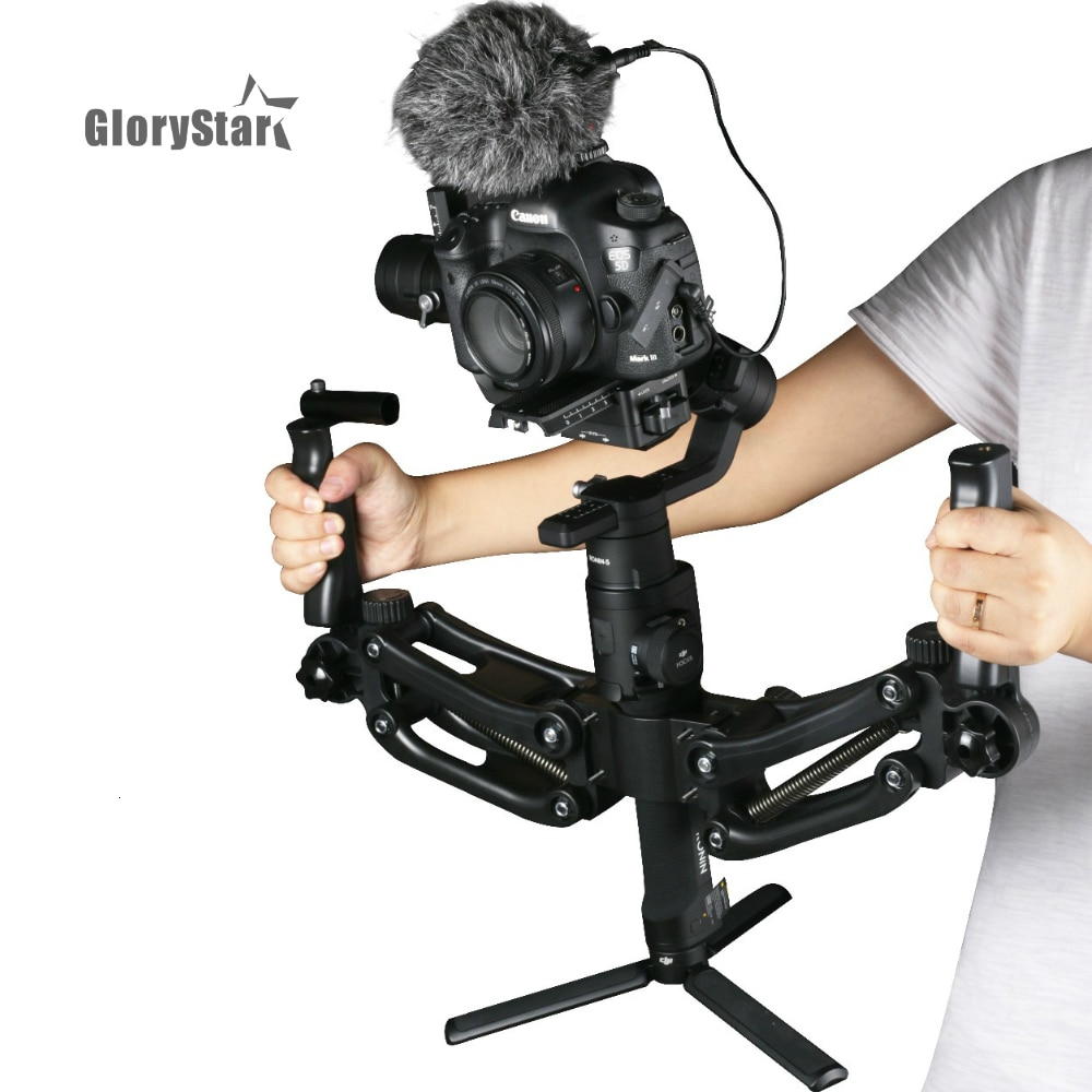 3 Axis Spring Dual Handle Gimbal Hold Arm for ZHIYUN Crane 2 DJI Ronin S MOZA AIRCROSS Smooth 4 OSMO mobile 2 AK2000 AK4000 BOB2