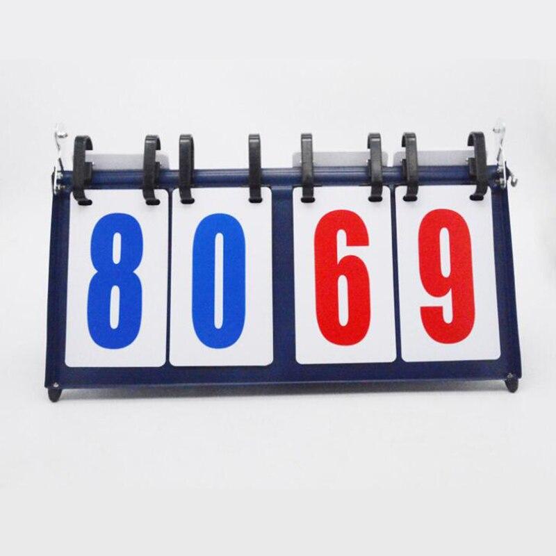 لوحة نتائج كرة السلة ، 4 أرقام ، 99-99 صفحة ، 1 كجم ، معدن ، مسجل تنس الريشة المحمول
