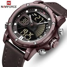 NAVIFORCE Watches Men Sports Quartz Wristwatches Mens Dual Display Analog Digital Clock Male Luminous Date Relogio Masculino