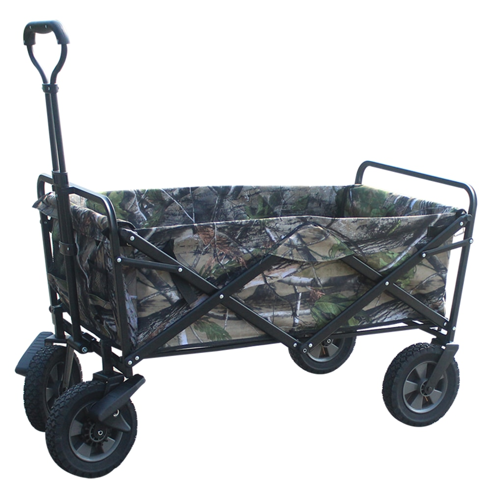 Garden Tool Collection Collapsible Folding Outdoor Garden Utility Wagon with Cover Bag Camping Wagons