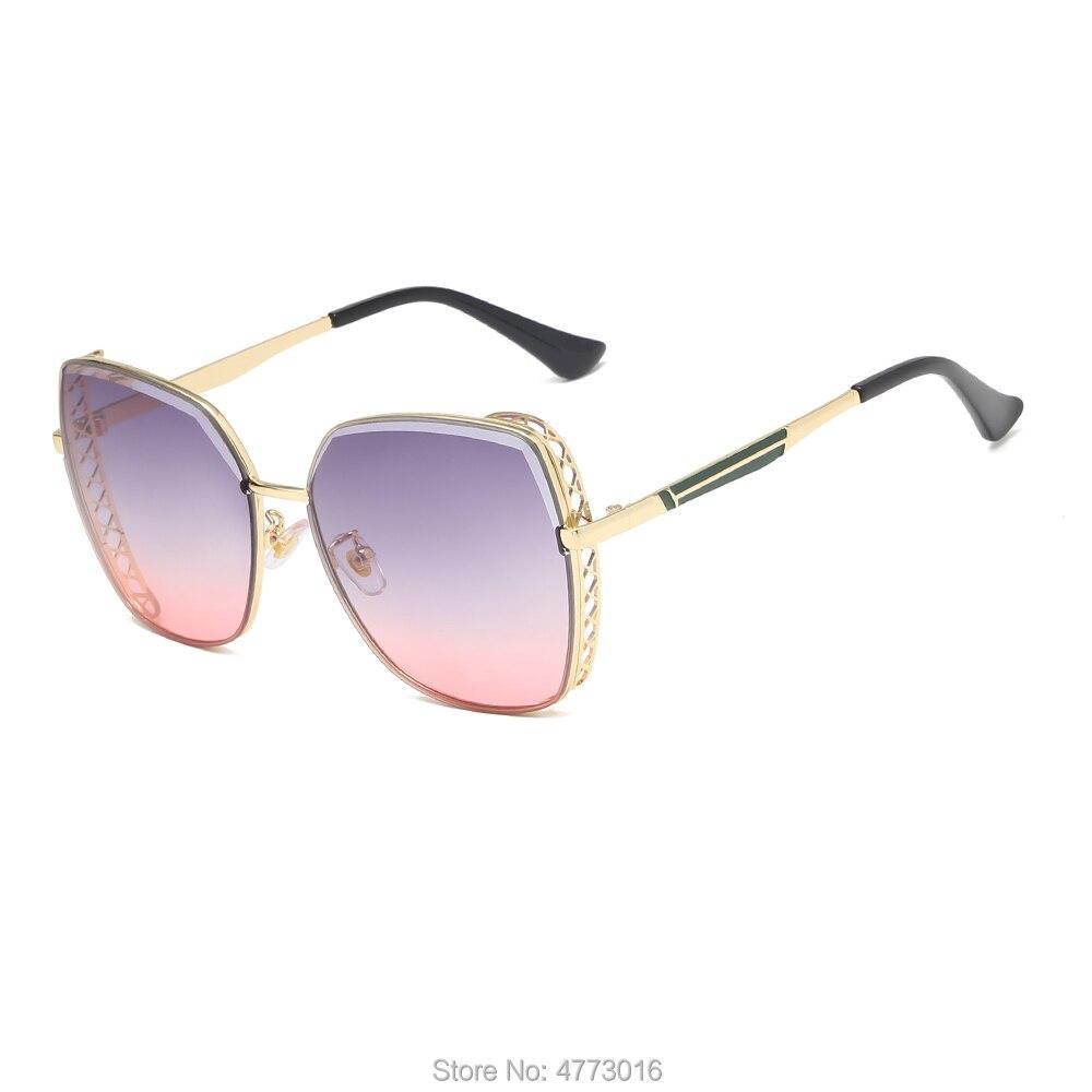 Direto da fábrica nova praça punk europeu e americano senhoras óculos de sol aparado malha cat-eye moda óculos de sol
