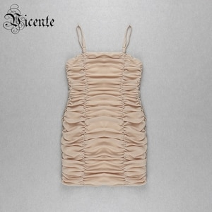Clearance Sale ! VC Hot Chic Draped Design Sexy Sleeveless Backless Celebrity Party Club Mini Slip Dress
