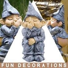 Zabawkowa żywica figurki niegrzeczny ogród Gnome ogród figurka dekoracyjna Gnome dekoracja willa dom figurki ogrodowe Decoartions