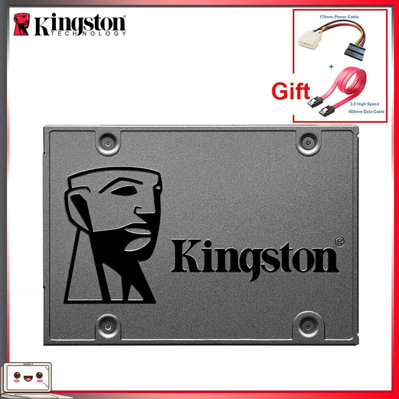 Kingston-قرص صلب SATA 3 SSD عالي الجودة ، 120 جيجابايت ، 240 جيجابايت ، 480 جيجابايت ، 960 جيجابايت ، 1 تيرا بايت بايت ، 2.5 بوصة HHD ، عرض ترويجي للكمبيوتر المحم...
