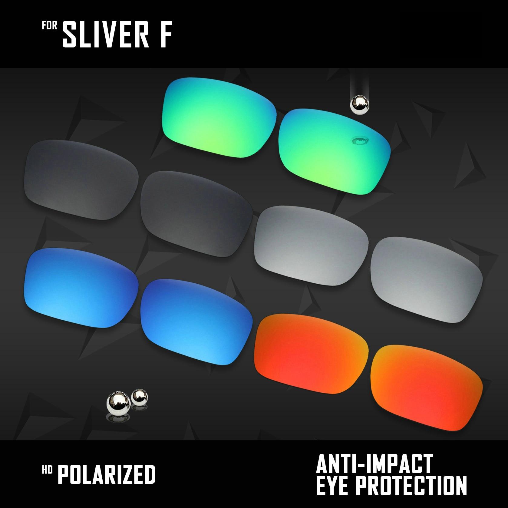 OOWLIT 5 أزواج الاستقطاب النظارات الشمسية عدسات لاستبدال أوكلي الشظية F OO9246-Black والفضة و الجليد الأزرق و الأحمر و الزمرد الأخضر