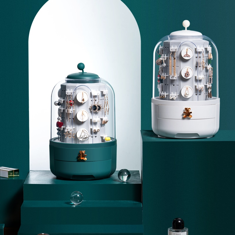 Cutie organizator bijuterii, organizator machiaj pentru produse cosmetice, suport pentru depozitare cosmetice pentru rujuri / cremă / mască