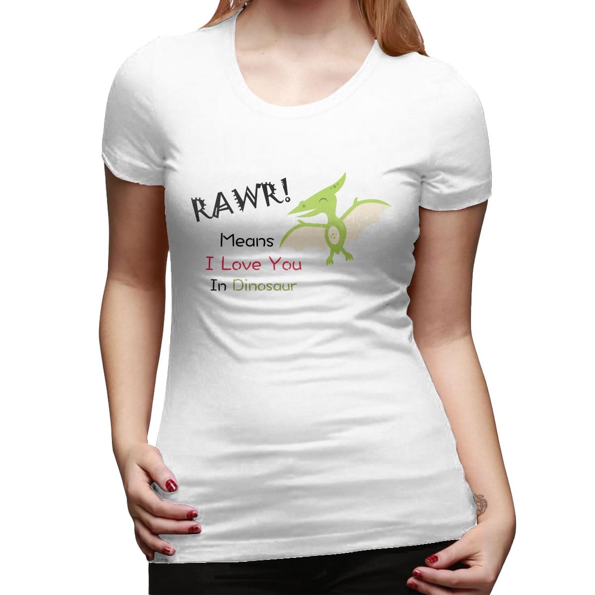 Футболка женская ТВ шоу вонючий RAWR означает, что я люблю тебя в динозавре, кошка, футболка с принтом Девушка и женщина Топ тройник друзья
