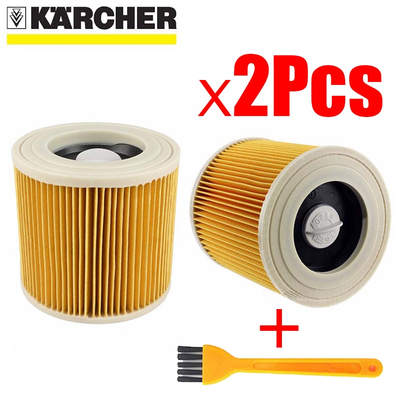 Фильтры для пылесосов Karcher, детали для пылесосов, картридж, HEPA фильтр WD2250 WD3.200 MV2 MV3 WD3, детали фильтр karcher