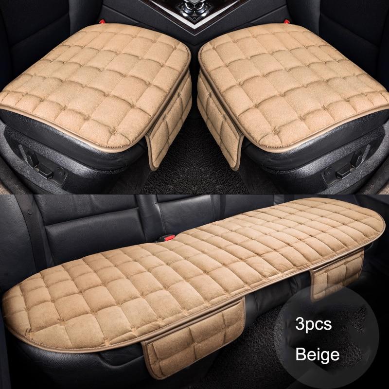 PlushCar Seat Cover Warm Plush Auto Protector Cushion for Chevrolet Aveo Cruze Captiva Malibu SPARK Impala Niva Beat Code SS