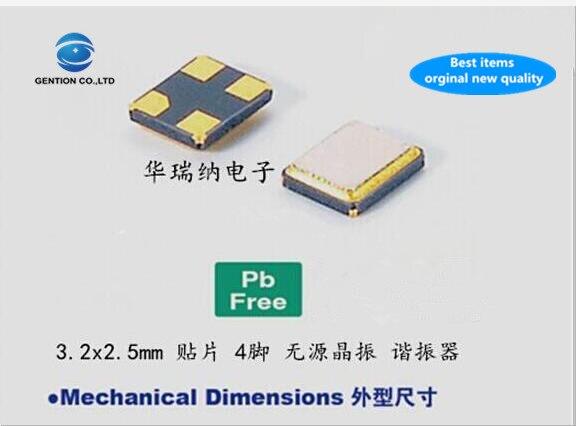 20pcs 100% new and orginal 3225 25M 25MHZ 25.000MHZ 12PF 10ppm passive SMD crystal original