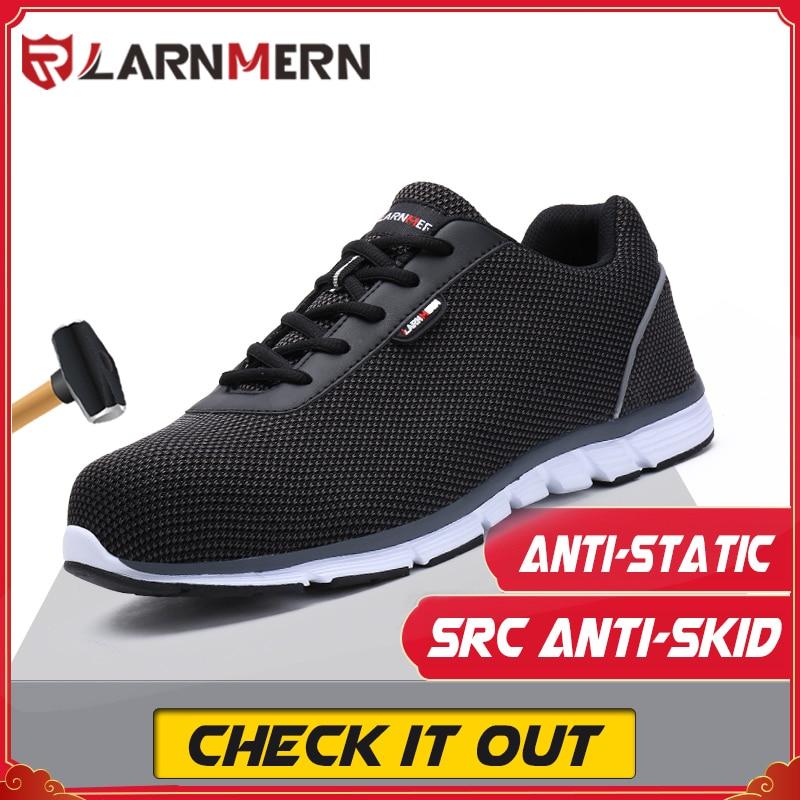 أحذية LARNMERN للعمل ، خفيفة الوزن ، مريحة ، للرجال, أحذية أمان مريحة ، خفيفة الوزن ، أحذية مضادة للتحطيم ، SRC ، أحذية رياضية للعمل ، مضادة للانزلا...