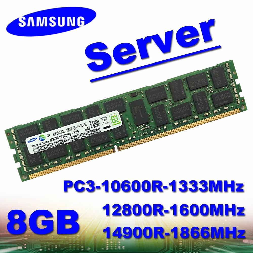 Memória ddr3 8 gb 10600r 12800r 14900r do servidor de samsung ram ecc pc3-1333MHz 1600 mhz 1866 mhz 4 gb 2 gb 16 gb 32 gb