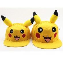 Anime Pokemon Pocket Monster Pikachu Cosplay Hat Women Girls Kawaii Demo Sunscreen Canvas Baseball Cap Street Travel Hats Caps