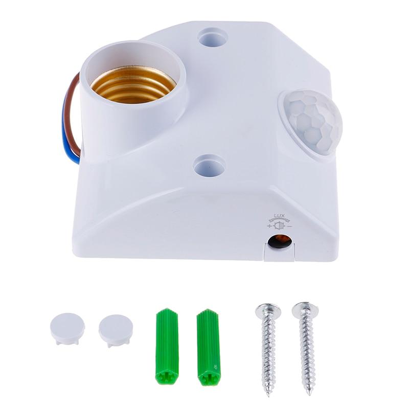 1 шт., держатель для лампы с датчиком движения, E27