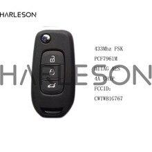 Clé télécommande à 3 boutons 434MHz FSK, authentique, transpondeur HiTag AES 4A, pour voiture Renault Megane 4, Captur, Kadjar