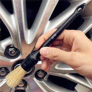 Image 5 - Полипропиленовая щетка SPTA с ручкой в виде змеи для чистки салона автомобиля с натуральными волосами кабана, щетка для чистки сидений, приборной панели, воздуховыпускного отверстия