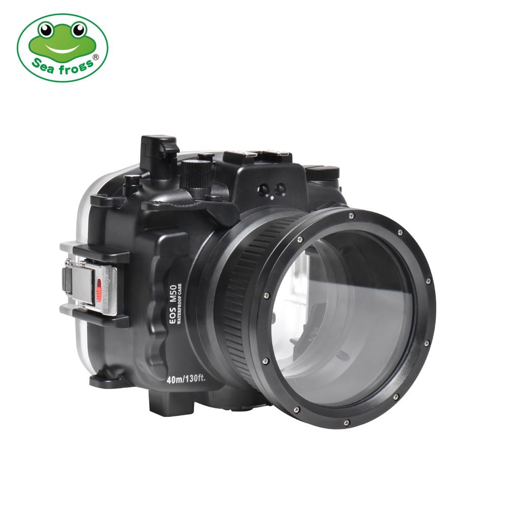 Searogs مثبت مضاد للماء لكانون EOS M50 الغوص كاميرا مثبت مضاد للماء الحال 40 متر 130ft التصوير تحت الماء