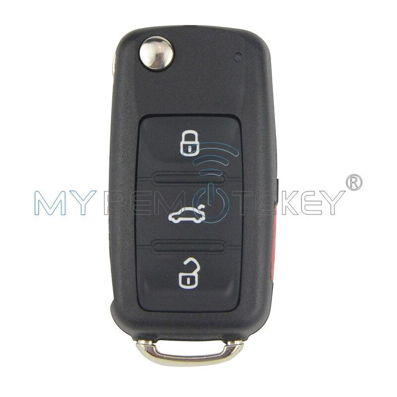 Автомобильный Дистанционный ключ для VW Bettle CC EOS Golf Jetta Passat Tiguan Touareg 2014 2015 2016 4 кнопки 5K0837202AE 315 МГц remtekey