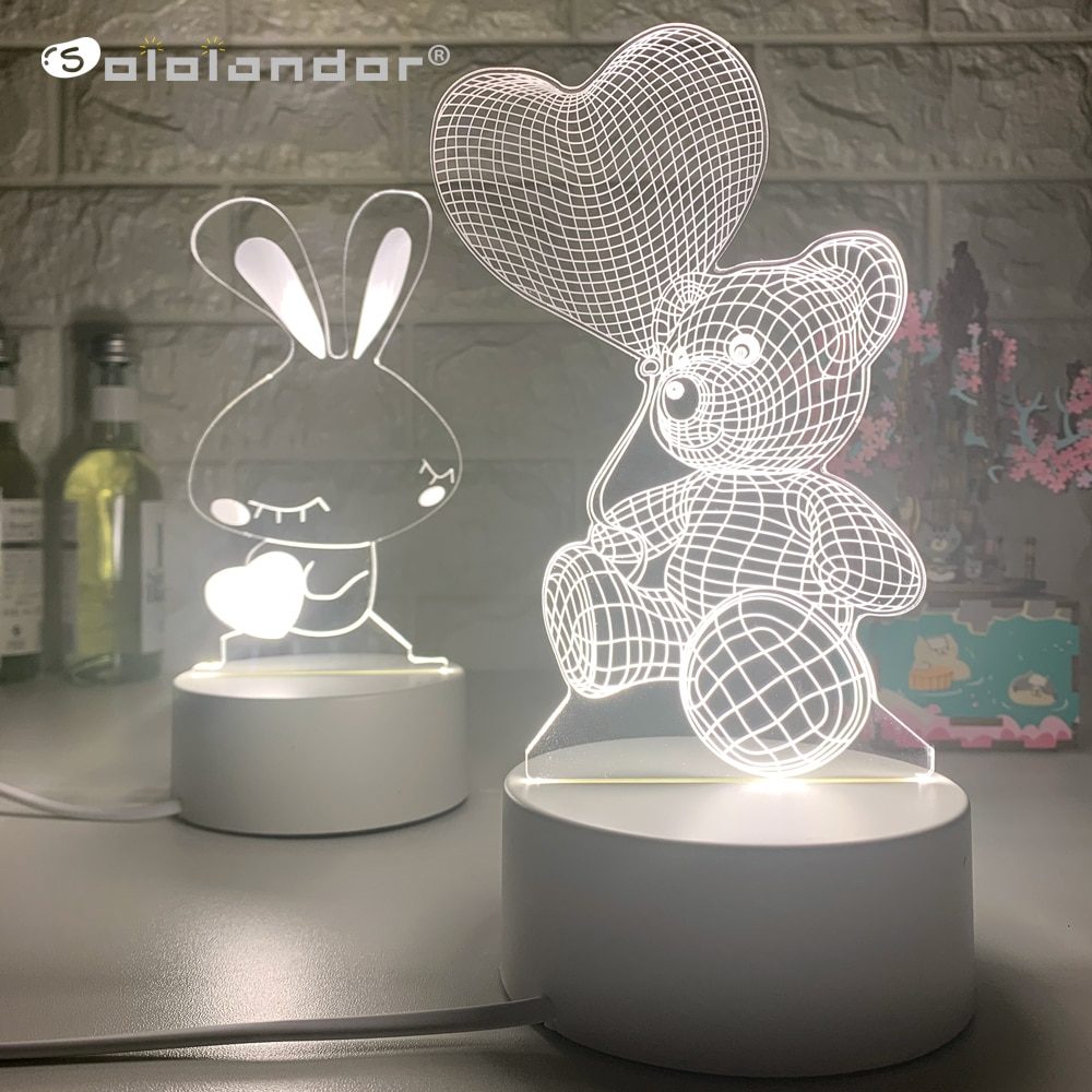 cute led resin animal rat mouse desk lights small art mouse children s table lamp lights small mini mouse light night light Newest Acrylic The neon lights 3D stereo Night light Small table lamp Bedside lamp LED lamp Birthday festival children decorate