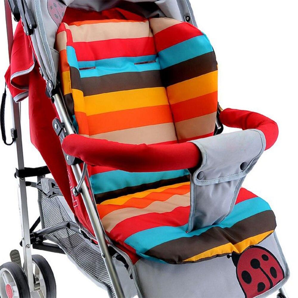 Детская коляска толстые красочные младенца коврик дышащая подстилка для коляски подкладочный вкладыш автомобильное кресло Коляска Подушк...