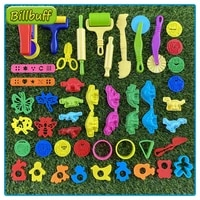 46pcs diy slimes play dough tools accessories plasticine model modeling clay kits soft clay plastic set moulds toys for children