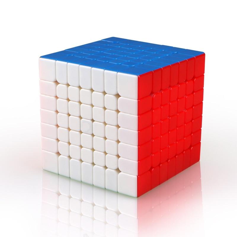 Cubo mágico creativo de 7 ° orden, juego profesional, cubo ocupado para niños, Cubo de velocidad, juguetes infantiles educacionales para adultos DD60M