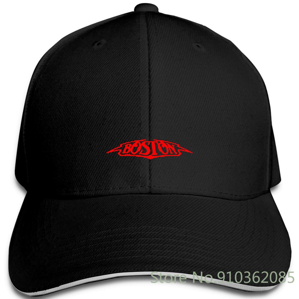 Nova boston rock band logotipo preto para barato por atacado harajuku bonés ajustáveis boné de beisebol masculino feminino