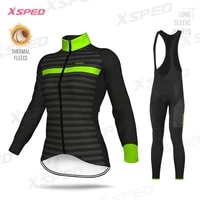 2021 women road bike outfit cycling clothing winter female jersey set thermal fleece long training jacket warm tight suit
