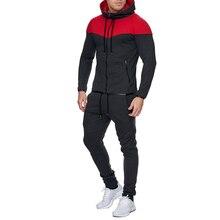 ZOGAA hommes survêtements décontracté 2 pièces ensemble mode couleur bloc vêtements de sport à capuche survêtement pour homme Sportsuit hommes survêtement