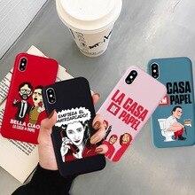 GYKZ Drôle Spain TV La Casa De Papel Téléphone Pour iPhone SE 2020 11Pro XS MAX 7 X XR 6 8Plus Après Le hack Souple Coque Arrière