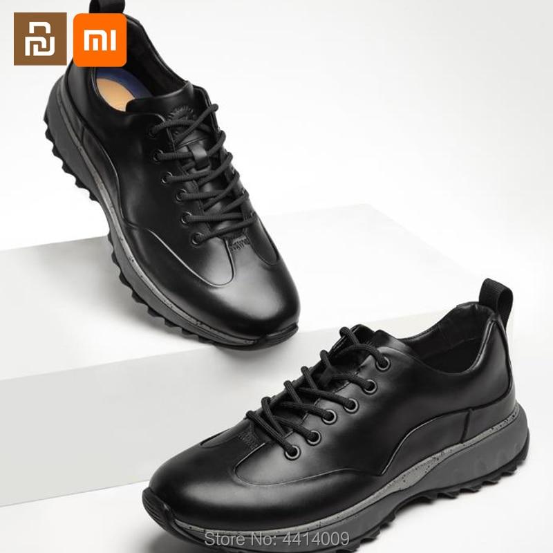 Youpin youpin الحضرية عادية أحذية من الجلد رئيس طبقة جلد البقر عالية مرونة توسيد رجال الأعمال أحذية من الجلد