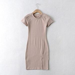 Sexy JewelNeck ShortSleeve Mini Bodycon Dresses DLQZ474