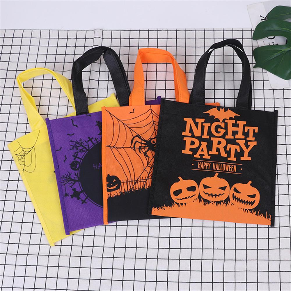 Нетканые Сумки на Хэллоуин, 1 шт., сувениры для Хэллоуина, сувениры для Хэллоуина, подарочные сумки с ручками, большие искусственные подарки, ...