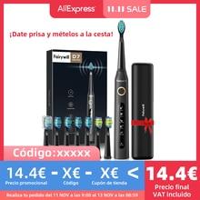 Fairywill elettrico Sonic spazzolino da denti FW-507 carica USB ricaricabile adulto impermeabile dente elettronico 8 spazzole testine di ricambio