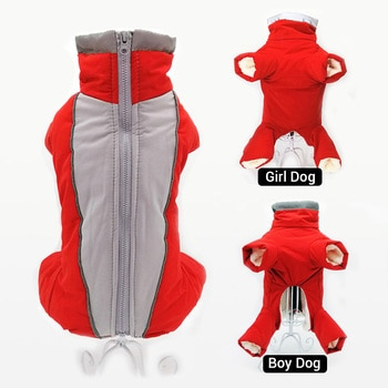 Зимние комбинезоны для собак, теплые водонепроницаемые брюки, Мужская/женская одежда для маленьких собак, светоотражающая пуховая куртка для щенков