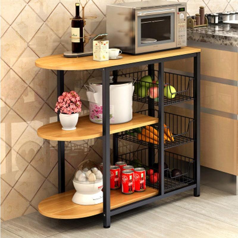 Mesa de comedor, estante de almacenamiento, estante de almacenamiento, soporte de microondas, estantes multicapa, estantería multifuncional que ahorra espacio