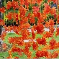 Fleurs artificielles faux feuillage fleurs feuilles derable rouge decoration de jardin a la maison