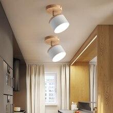 En bois En Fer Forgé Plafonniers LED Plafonnier Décoration Maison Plafonnier pour Salon Chambre Salle De Bain Cuisine Lampes