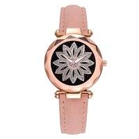 sleek minimalist flower rotating dial belt ladies quartz watch simple style pink leather wrist watches %d1%87%d0%b0%d1%81%d1%8b %d0%b6%d0%b5%d0%bd%d1%81%d0%ba%d0%b8%d0%b5 %d0%bd%d0%b0%d1%80%d1%83%d1%87%d0%bd%d1%8b%d0%b5