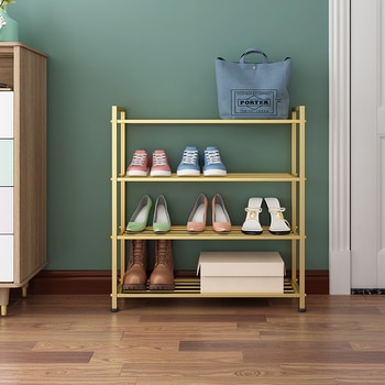 Nordic Shoe Rack Into The Door Simple Iron Slippers To Collect The Shelf Rack Home Multi-layer Shoes Shelf Shoe Cabinet
