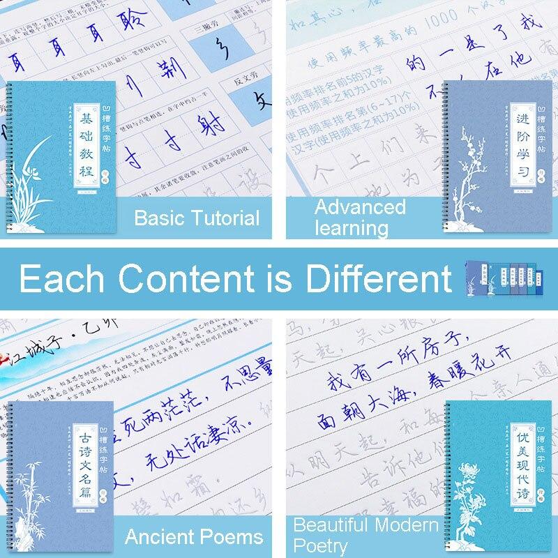 Новинка 2021, каллиграфия для взрослых, каллиграфия, обычный шрифт для письма, копия для письма, набор учебников 5