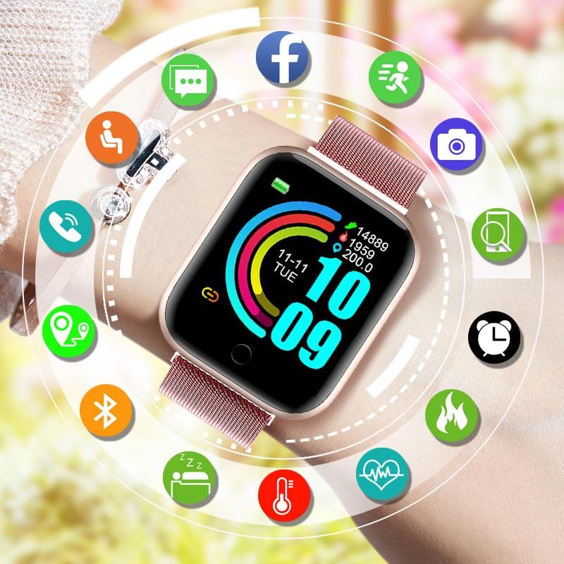Fashion Smart Watch Women 2020 Smartwatch Men Kids Sport Wrist Watch Fitness Bracelet Tracker Heart Rate Monitor for Android IOS