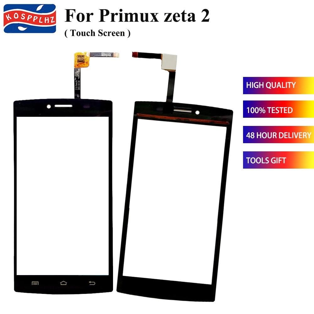 "KOSPPLHZ 5.0"" Outer Glass For primux zeta 2 zeat2 Touch Screen Digitizer Sensor For primux zeta 2 Cell Phone TouchScreen Panel"