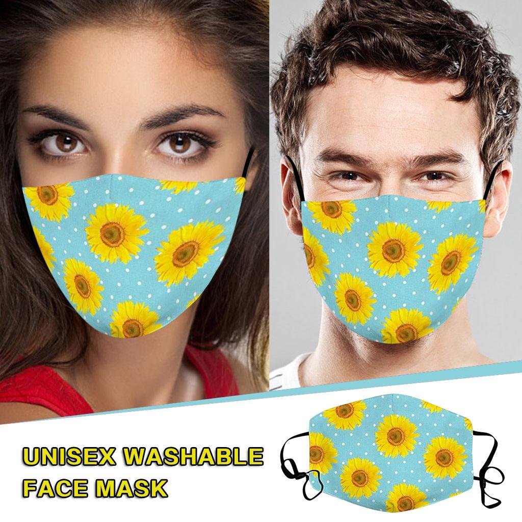 Girassol Mascarillas Bandana 1pc Ajustável Proteger Névoa Nevoeiro Anti-cuspir Mascara Máscara Protectora Protetora Envoltório Do Lenço