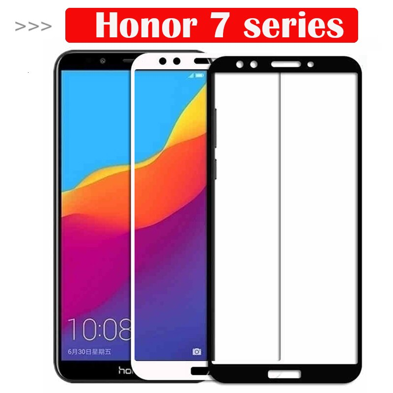 Vidrio protector para Huawei Honor 7c 7a Pro 7x7 s vidrio templado en el 7apro 7cpro 7 X S X C X7 S7 A7 C7 Protector de pantalla