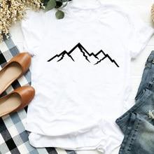 Vrouwen Lady 90S Mountain Camper Dames Casual Cartoon Print Fashion T Tee Womens T-shirt Vrouwelijke Overhemd Kleding Top Grafische t-shirt