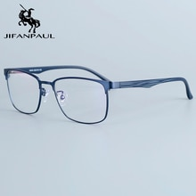 JIFANPAUL Ultra light square glasses frame anti-blue light glasses frame half frame glasses frame ma